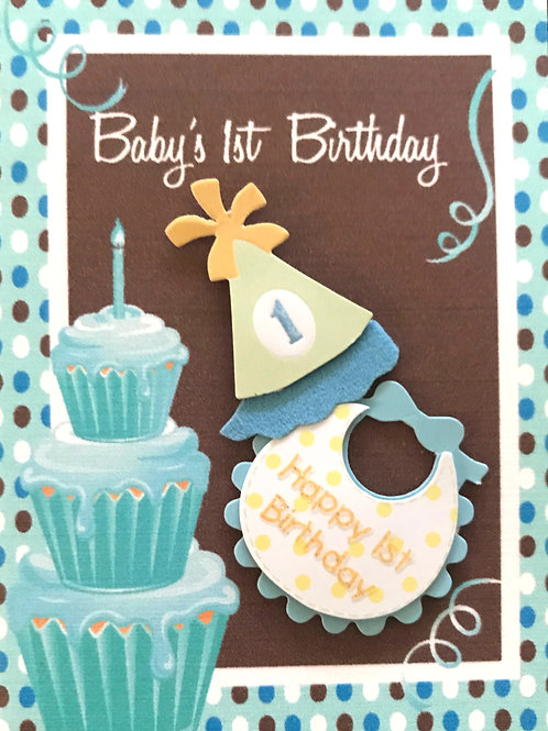 Baby's 1st Birthday Gift Card - 117/24