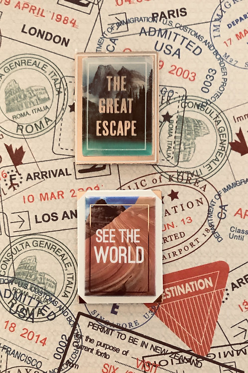 Travel Badges Note Card Set - NC174