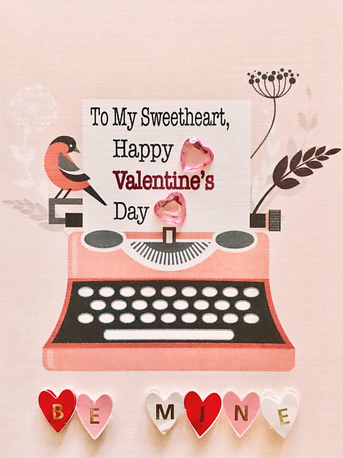 Valentines Typewriter Greeting Card- 1444