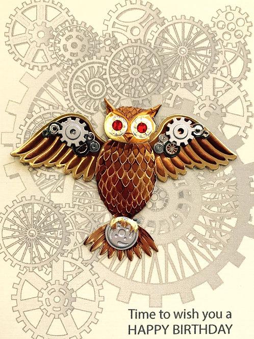 Steampunk Owl Birthday -1184