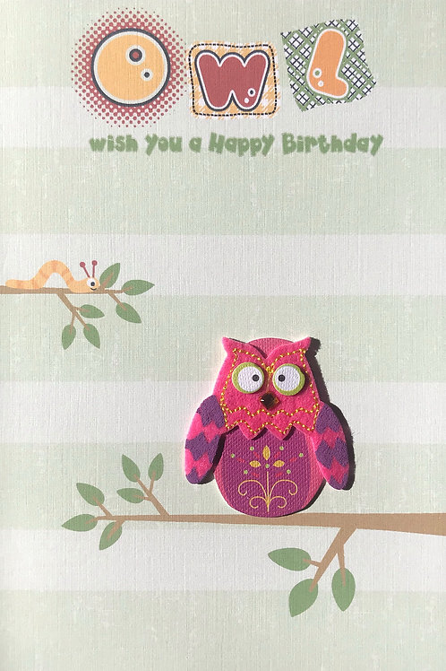 Birthday Owl - 1432