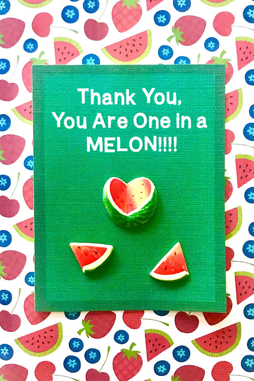 Thank You One in a Melon Note Cards - NC124