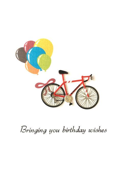 Birthday Bike Asst Note Card Set-NC25