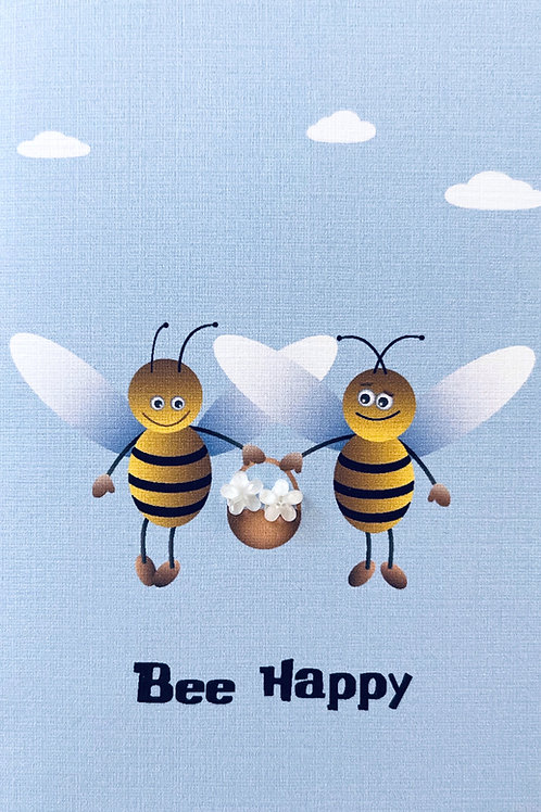 2 Bees Happy Note Card Set - NC178