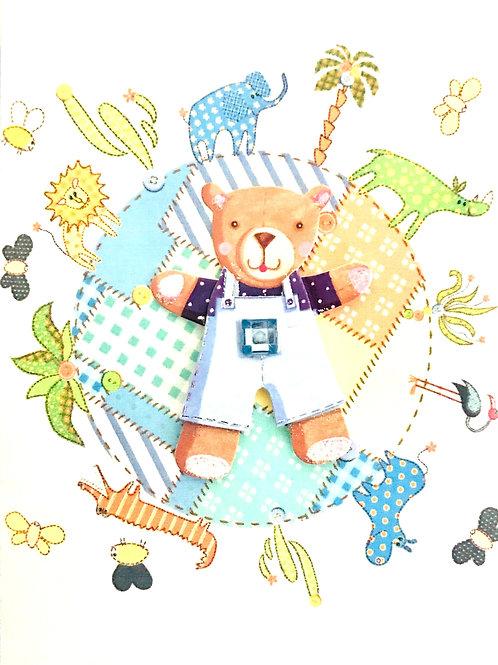 Baby Boy Bear Note Cards - NC33