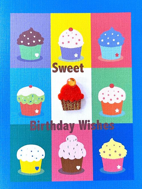 Birthday Cupcakes Note Card Set - NC111