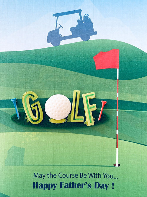 Father's Day Golf Greeting Card - 1471