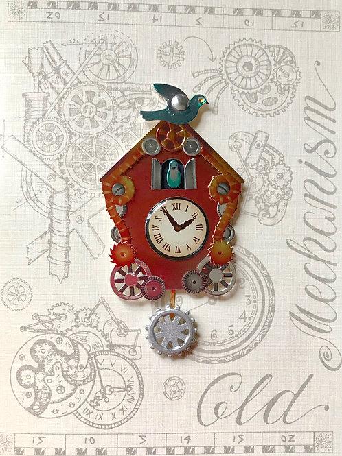 Blank Steampunk Clock Greeting Card - 1460