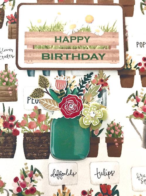 Birthday Vase - 1301