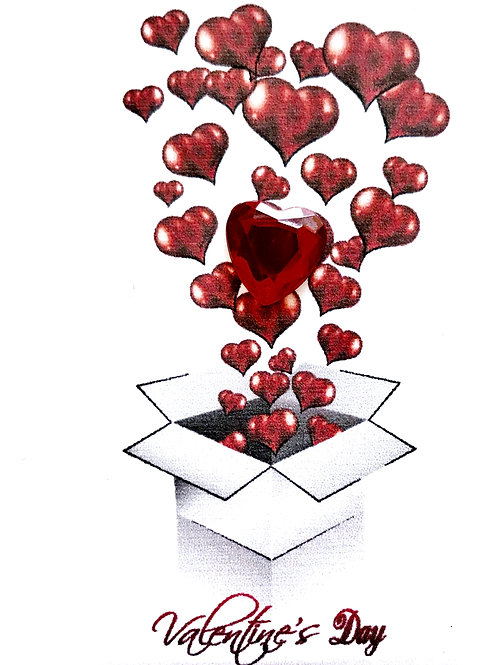 Valentine Box of Hearts Gift Card - V103