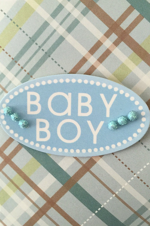 Baby Boy Oval Gift Card 117B-5