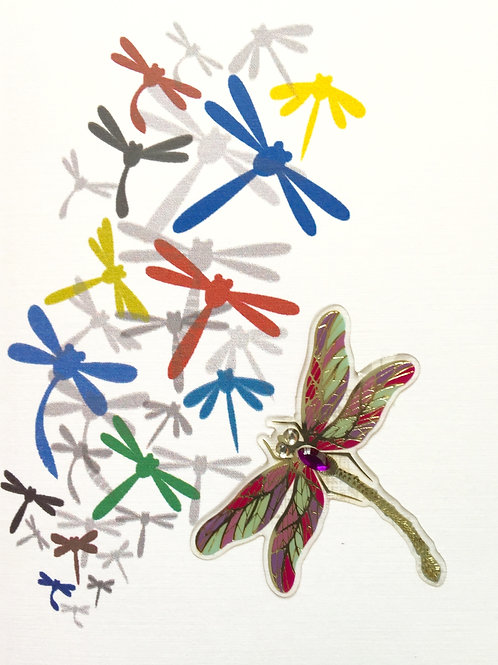 W-NC58 Dragonflies Note Card Set