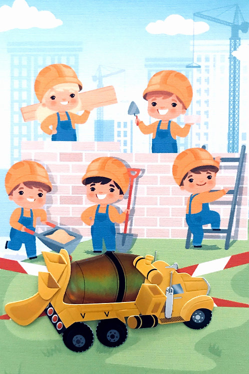 Construction Trucks Note Card Sets - NC168