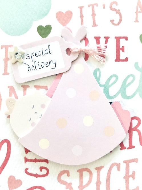 Baby Girl in Sling Gift Card - 117G/4