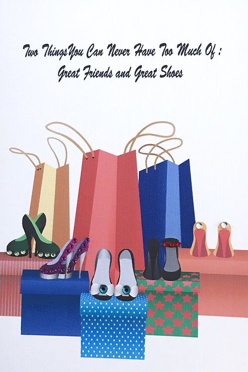Blank Great Friends and Great Shoes Greeting Card - 1391