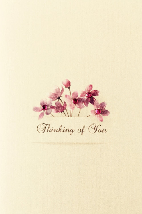 W-NC20 Thinking of You Floral Note Card Set