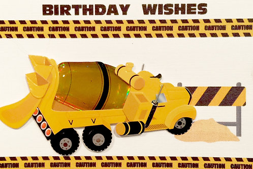 Cement Truck Gift Card 122A/38