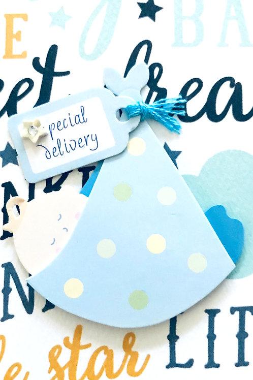 Baby Boy in Sling Gift Card - 117B/4