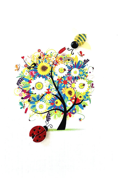 Floral Tree Note Card Set-NC26