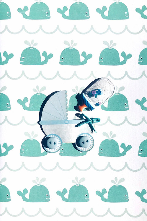 Baby Boy Carriage - 1429