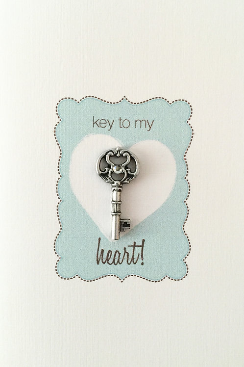W-NC11 Key to Heart Note Card Set