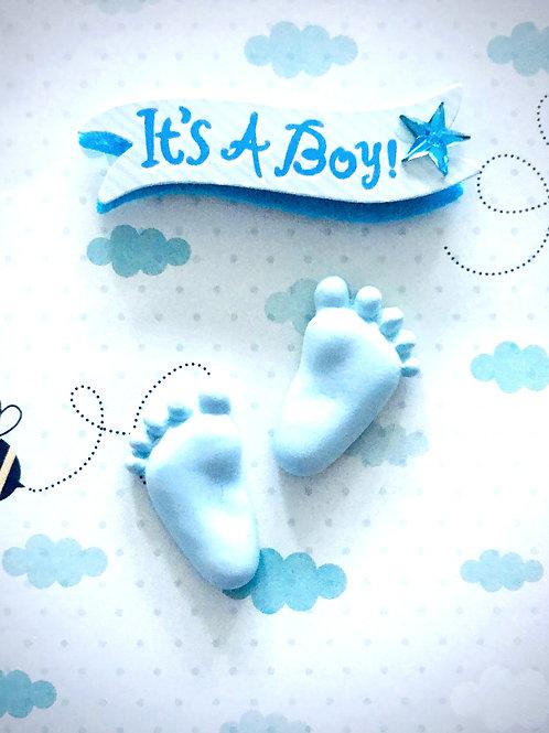 Baby Boy Feet Gift Card - 117B/23