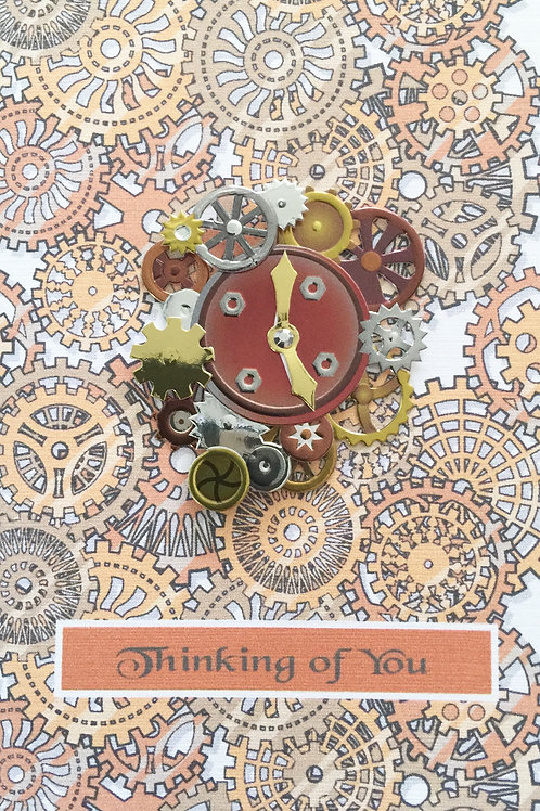 Steampunk Clocks Asst Note Card Set-NC72