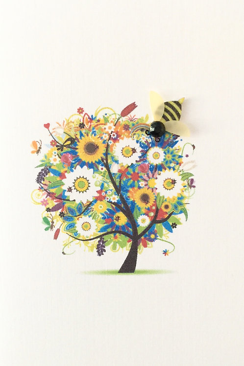 W-NC26 Flower Tree Note Card Set
