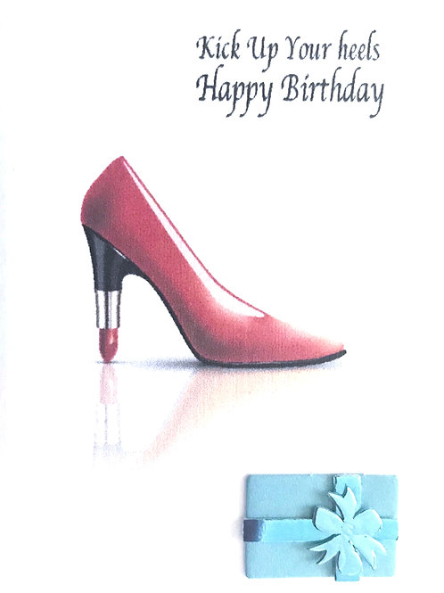 Lipstick Birthday Shoe Gift Card - 155A/2