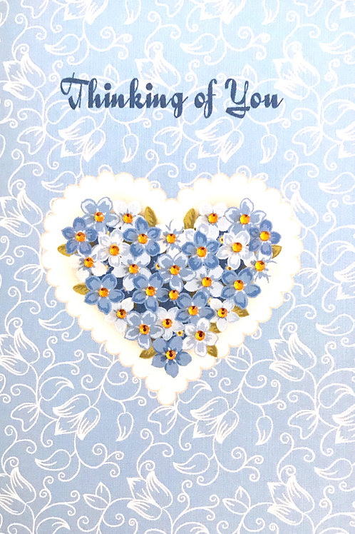Thinking of You Heart Note Cards - NC130