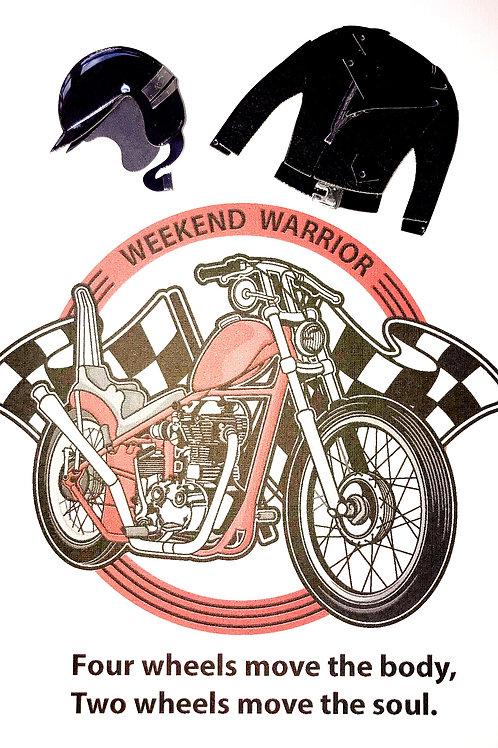Blank Weekend Warrior Greeting Card- 1425