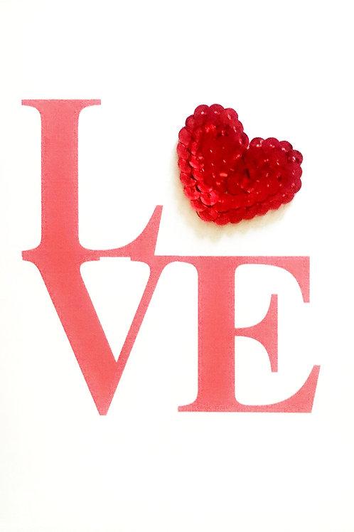 Valentine LOVE Greeting Card - 1448