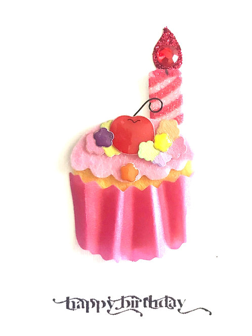 Birthday Cupcake Gift Card 122A/44