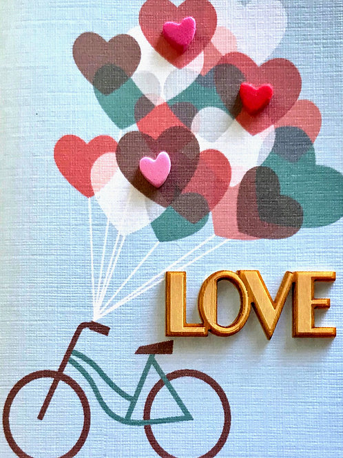 Valentine LOVE bike Gift Card - V101