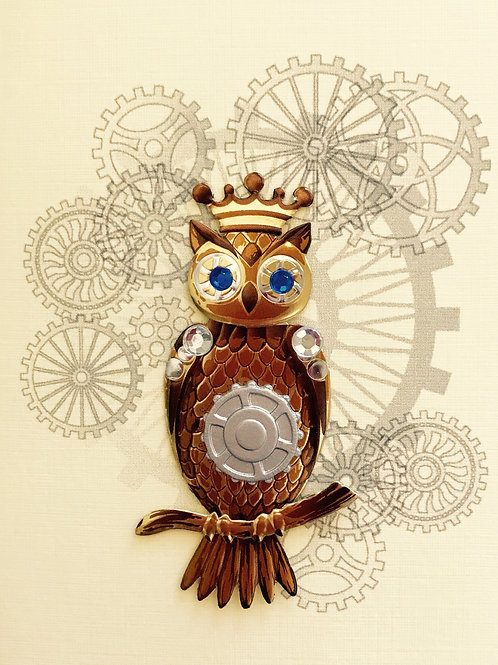 Steampunk Owls Asst Note Card Set-NC73