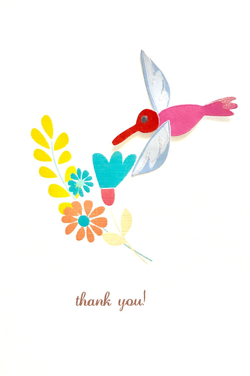 Thank You Hummingbird Asst Note Card Set-NC9