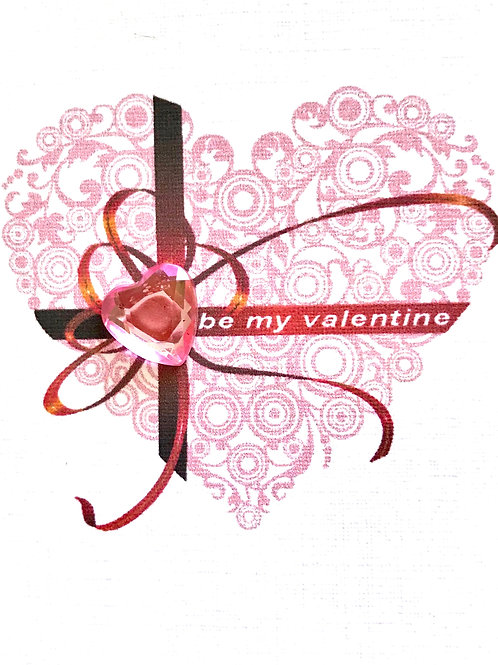 Valentine Lacy Heart Gift Card - V109