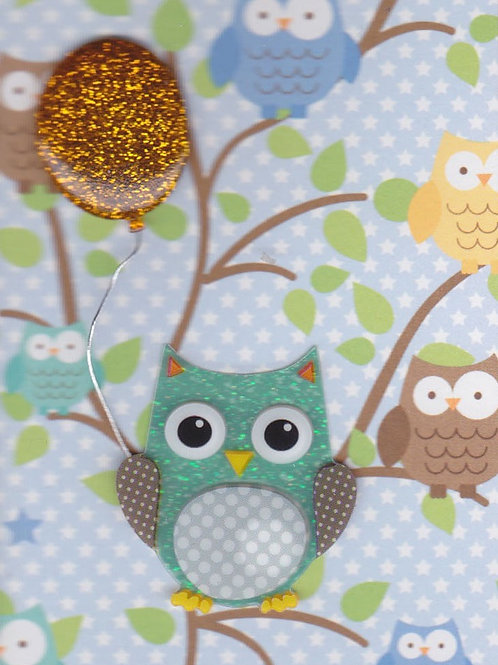 Owl with Balloon Gift Card 143A/9