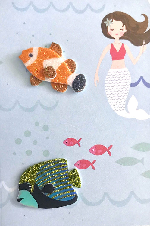 Mermaid and Fishes Gift Card 143A/24