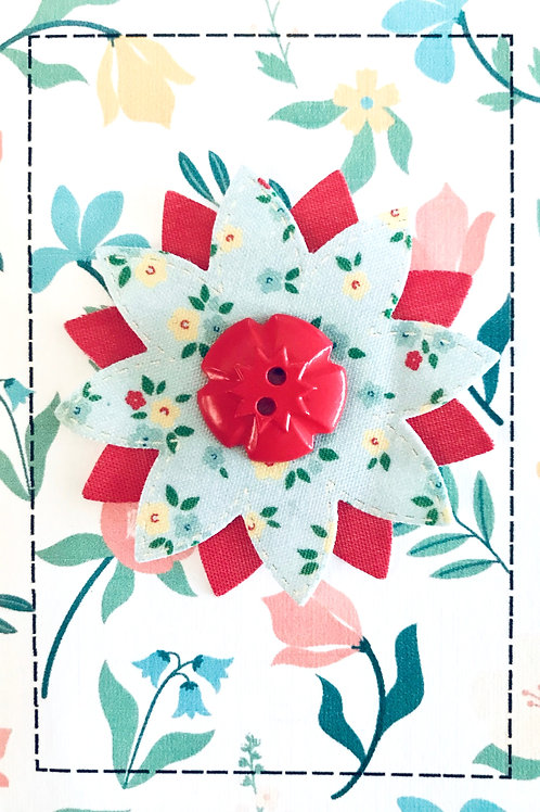 Stitched Flower Gift Card - 143A/27