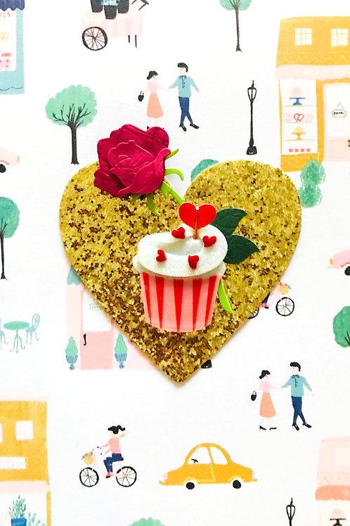 Valentines Cupcake Greeting Card - 1446