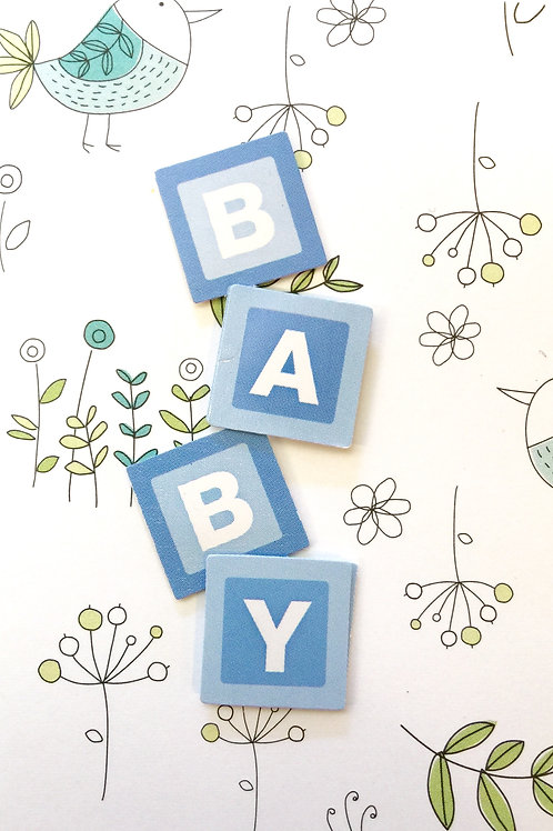 Baby Boy Blocks Gift Card 117B-6