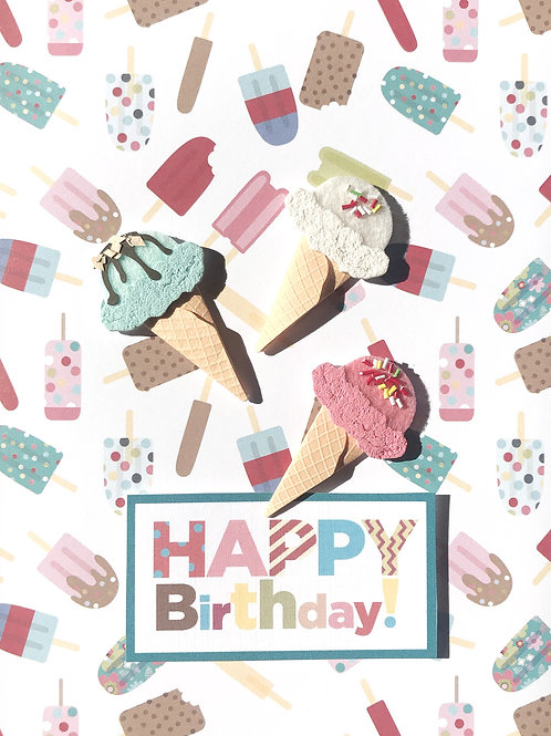 Birthday Ice Cream Cones - 879