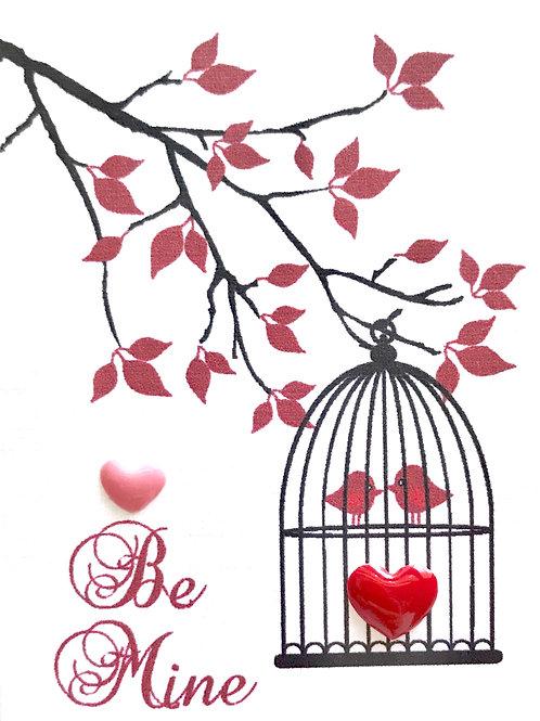 Valentine Birdcage Gift Card - V105