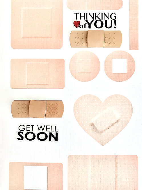 Get Well Bandaids Greeting Card - 1452