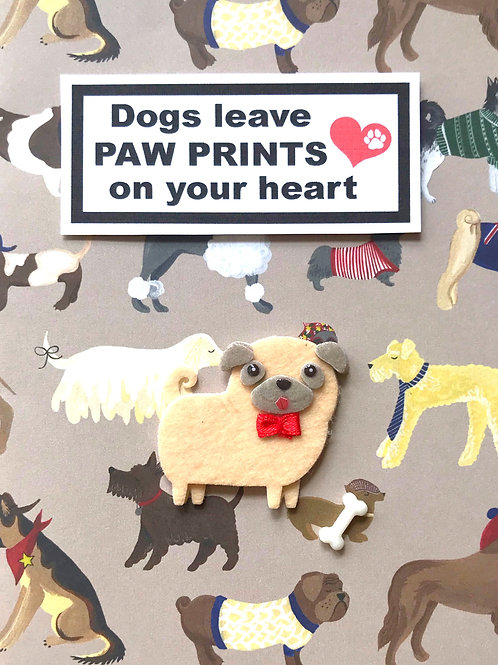 Dog Paw Prints - A114
