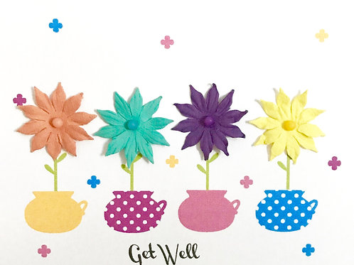Get Well Flower Pots -1145
