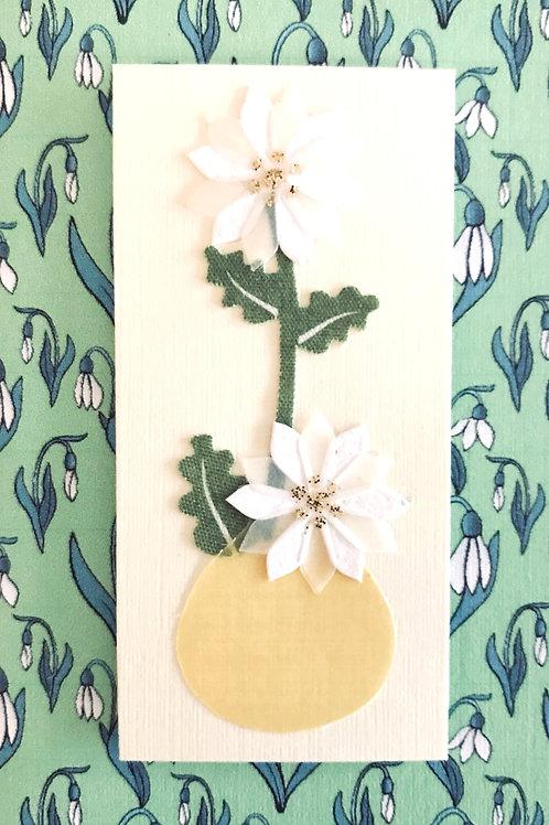 White Flower in Vase Gift Card - 143A/28