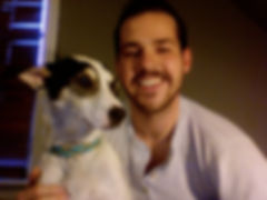 Photo of adopter and dog