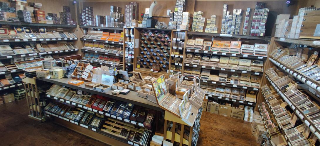 Owl Ear Humidor stocked full of premium cigars